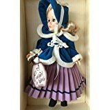 "Effanbee, 11"" Porcelain Doll holding her ice skates, from Currier & Ives collection, ""Skater"", NIB"