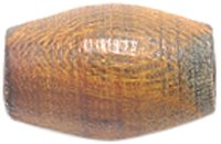 Shipwreck Beads Horn Smooth Hair Pipe Beads, 1/2-Inch, Burnt, 150-Pack