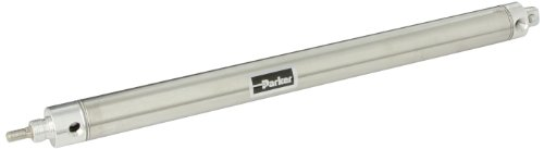 Parker 1.06DPSR12.0 Stainless Steel Air Cylinder, Round Body, Double Acting, Pivot & Nose Mount w/ Pivot Pin, Non-cushioned, 1-1/16 inches Bore, 12 inches Stroke, 5/16 inches Rod OD, 1/8'' NPT Port by Parker Hannifin