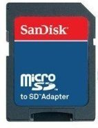 Digital Media Source MicroSD and MicroSDHC to SD Adapter for Smartphones - Non-Retail Packaging - Black