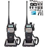 BaoFeng UV-5R Upgrade Version UV-5XP Extended Battery VHF UHF Two Way Radio 7.4v