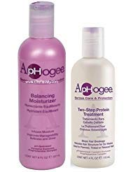 (Aphogee Serious Hair Care Double Bundle (Balancing Moisturizer and Twostep Protein Treatment).)
