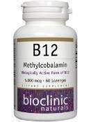Bioclinic Naturals - B12 Methylcobalamin 5000 mcg 60 loz