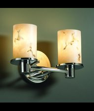 Justice Design Group FAL-8512-10-NCKL Rondo 2 Light Bathroom Bar Fixture from the LumenAria ()