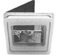 Heng's V771412-C1G1 Vent 14In 12V Metal Colonial White Base, Jrp1118 Garnish, White Screen, Acrylic