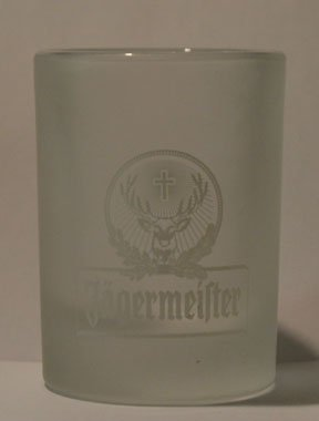 Jagermeister Frosted 1oz Promotional Shot Glass