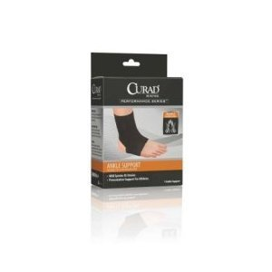 Curad Neoprene Pull-Over Ankle Support with Open Heel, Medium