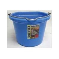 Fortiflex Flat Back Feed Bucket for Dogs/Cats and Small Animals, 8-Quart, Sky Blue