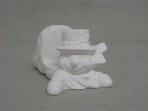 Bisque unpainted 07-340 snowman napkin/mail holder 5-7/8