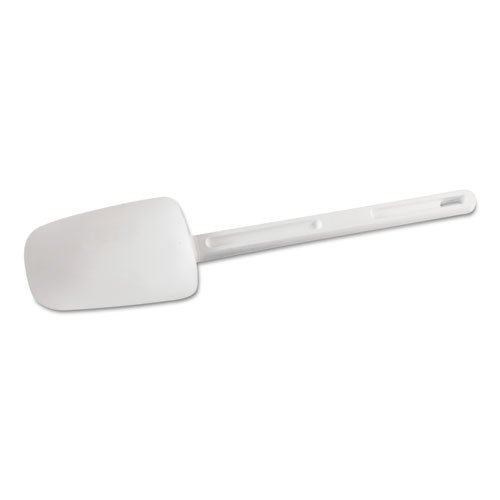 Rubbermaid Dishwasher Safe Spoon - Rubbermaid Commercial Spoon-Shaped Spatula, 9 1/2 in, White - Includes one each.