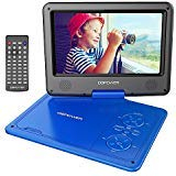 DBPOWER 9.5-Inch Portable DVD Player with Rechargeable Battery, SD Card Slot and USB Port - Blue by DBPOWER