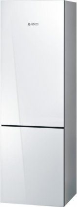 Bosch B10CB80NVW 24'' 800 Series Energy Star Qualified Counter Depth Bottom Freezer Refrigerator with 10 cu. ft. Capacity Spill-Proof Glass Shelves HydroFresh Drawer and Glass Door in by Bosch