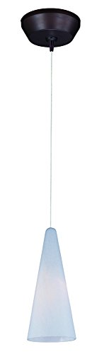 ET2 E94328-101BZ Lava 1-Light RapidJack Pendant and Canopy Mini Pendant, Bronze Finish, White Lava Glass, 12V GY6.35 T4 Xenon Bulb, 20W Max., Damp Safety Rated, 2900K Color Temp., Standard Dimmable, Shade Material, 800 Rated Lumens