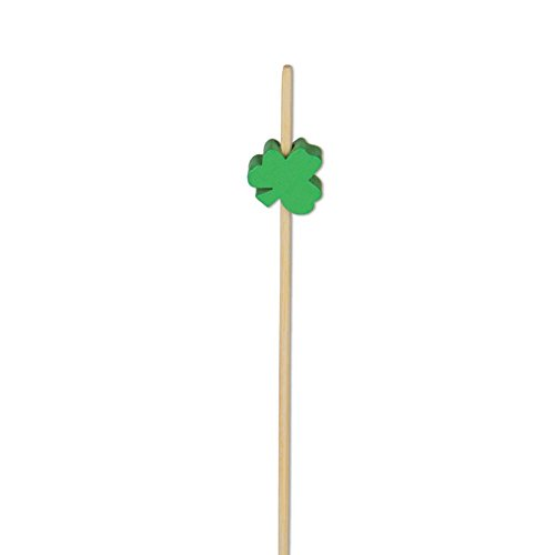 (Shamrock Appetizer or Sandwich Picks/Swizzle Sticks - 4 3/4