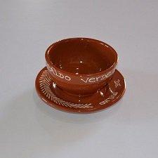 Tradicional Portuguesa de terracota pintados a mano con/plato de sopa: Amazon.es: Hogar
