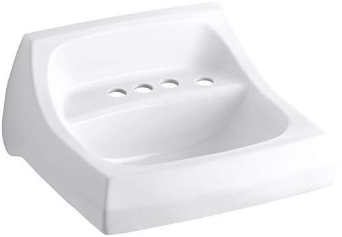 - KOHLER K-2005-R-0 Kingston Wall-Mount Bathroom Sink with 4