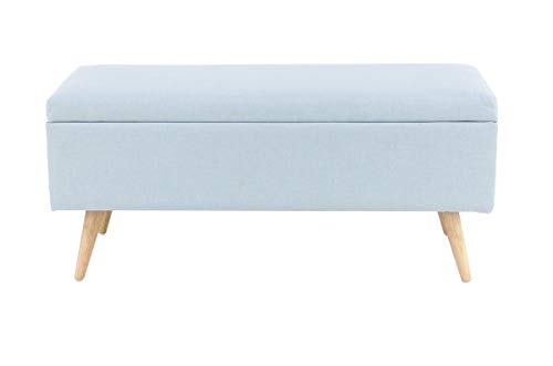 Deco 79 38398 Modern Wood and Polyester Storage Bench, 16