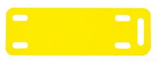 Panduit M300X100Y6T Thermal Transfer Marker Plate, Polyester/Polyolefin, Yellow