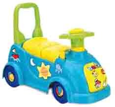 Velo Et Vehicule Pour Enfants 3526 Porteur Basic Avec Coffre Rangement Chicos Bleu Et Vert A0900470