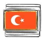 - Clearly Charming Turkey Flag Italian Charm Bracelet Link