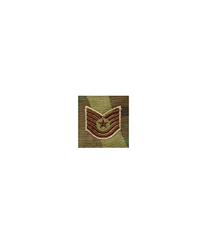 US Air Force 2x2 OCP Scorpion Sew On Rank (E6 Technical Sergeant) by Insignia Depot (Image #1)
