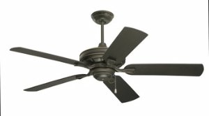 Emerson Ceiling Fans CF552GES Veranda 52-Inch Indoor Outdoor Ceiling Fan, Wet Rated, Light Kit Adaptable, Golden Espresso Finish (Emerson Indoor Fans)
