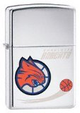 Zippo Lighter NBA Charlotte Bobcats, High Polished Chrome