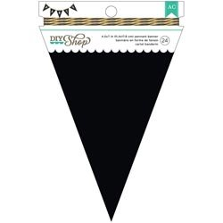 Bulk Buy: American Crafts  DIY Shop 2 Banner 24pcs Chalkboar