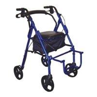 795BU - Duet Dual Function Transport Wheelchair Walker Rollator, Burgundy - Duet Rollator