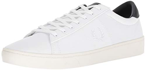 Fred Perry Men's Spencer Canvas Sneaker, White, 11 D UK (12 US)