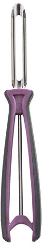 (Linden Sweden Fruit and Vegetable Peeler - Made In Sweden- Great for Apples, Carrots and Potatoes - Soft-Grip Handle for Comfort and Safety - Dishwasher Safe - Stainless Steel Construction (Purple))