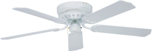 Litex CU52WW5 Close-Up 52-Inch Ceiling Fan with Five Reversi