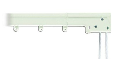 - Spring Window Fashions Super Heavy Duty Traverse Curtain Rod 66-120 Inch, White (Center Draw)