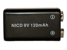 48 X 9 Volt 120 Mah Nicd Rechargeable Batteries by Black Label