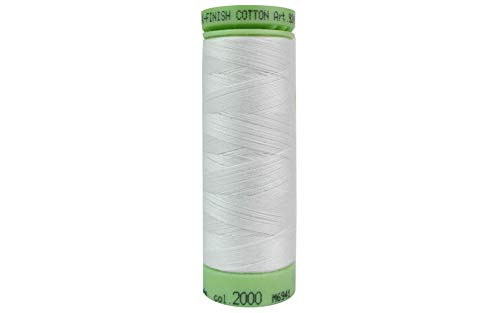 - Mettler Silk-Finish Solid Cotton Thread, 220 yd/200m, White