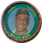 1971 Topps Topps Coins (Baseball) Card# 153 Willie Mays of the San Francisco Giants VGX Condition