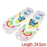The Smurfs Summer Flipflops Slippers Sandals(White/39 Size)