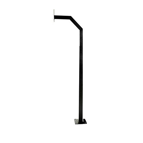 ALEKO LM107 Universal Mounting Post Gate Entry Gooseneck Curb Type Keypad Stand 51 Inches Tall Black ()