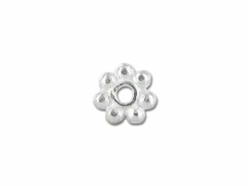 Sterling Silver Daisy Bead Spacer SSS-101-6MM (Bali Sterling Silver Spacer Beads)
