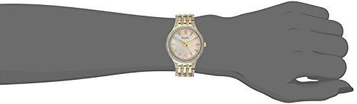 91d79beb1 Bulova Women's 98L234 Swarovski Crystal Gold Tone Bracelet Watch