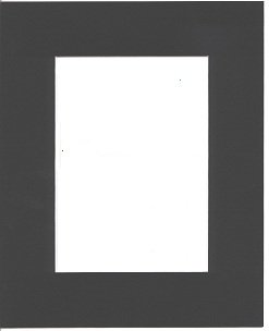 Pack of 5 18x24 Black Picture Mats with White Core Bevel Cut for 13x19 Pictures by bux1 picture matting