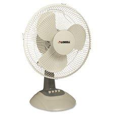 Lorell LLR44551 Desk Fan, 12