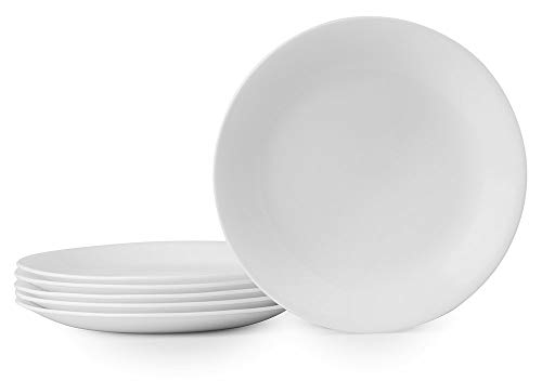 Cheap White Plates (Corelle Winter Frost White Lunch Plates Set (8-1/2-Inch, 6-Piece,)