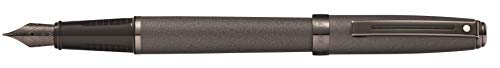 (Sheaffer Prelude Matte Gun Metal Fountain Pen with Gun Metal Tone PVD Fine Nib)