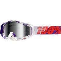 MotoX/Off-Road/Dirt Bike Motorcycle Goggles Eyewear- Purple Main/Silver Mirror / One Size (Main Off Road Goggle)