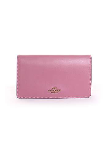 COACH Women's Slim Phone Crossbody in Smooth Calf Leather B4/Rose One ()