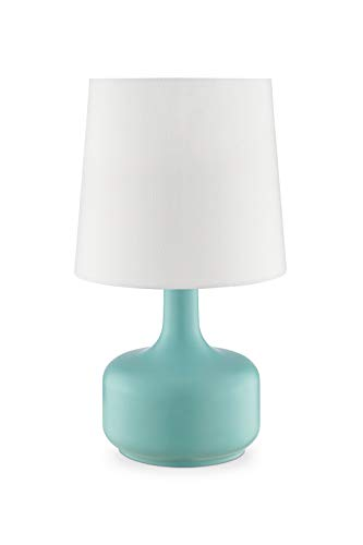OK Lighting AZOK819GR Cheru Teal Table Touch Lamps, 10