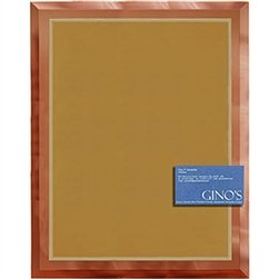 11 x 14 Gold Mirror Plaque Engraved with 9 x 12 Gold/Silver Plate by Gino's Awards Inc