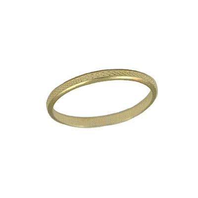 Kids Jewelry - 10K Yellow Gold 2 1/2 Basket Weave Band Ring For Girls