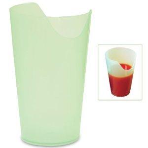 Nose Cup - Nose Cut-out Tumbler, Flexible, Tanslucent Plastic, 12 Oz Four Pack